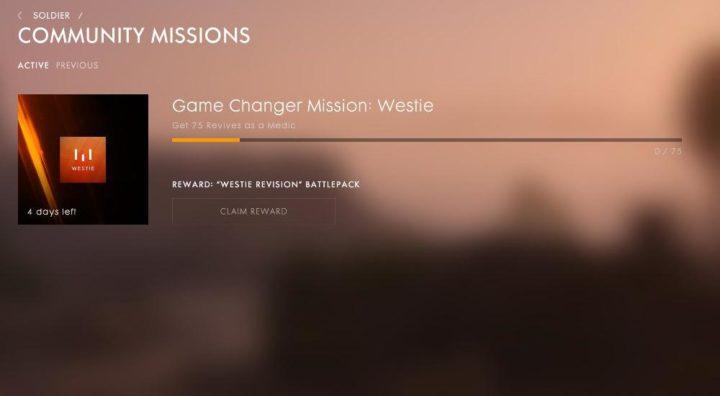 BF1:人気YouTuber Westie氏のゲームチェンジャーミッション開催、蘇生75回を達成せよ