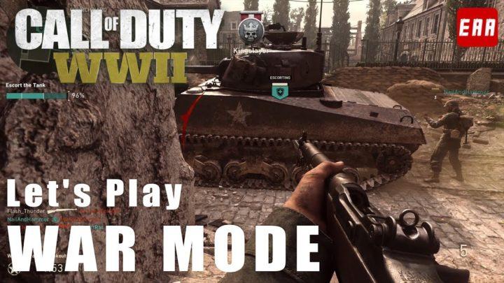 CoD:WWII: マルチプレイヤーの新モード「ウォーモード」プレイ映像、チームワークが重要に