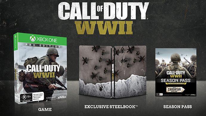 CoD:WWII:プロエディションの画像がリーク、シーズンパスに『CoD2』の「Carentan」リメイクマップ同梱か?