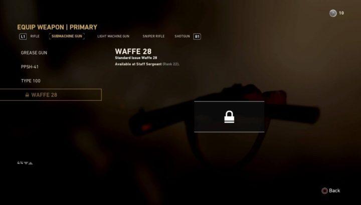 CoD:WWII: マルチプレイヤーのメイン武器リスト(25種)