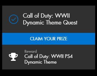 CoD:WWII: 限定のPS4ダイナミックテーマ