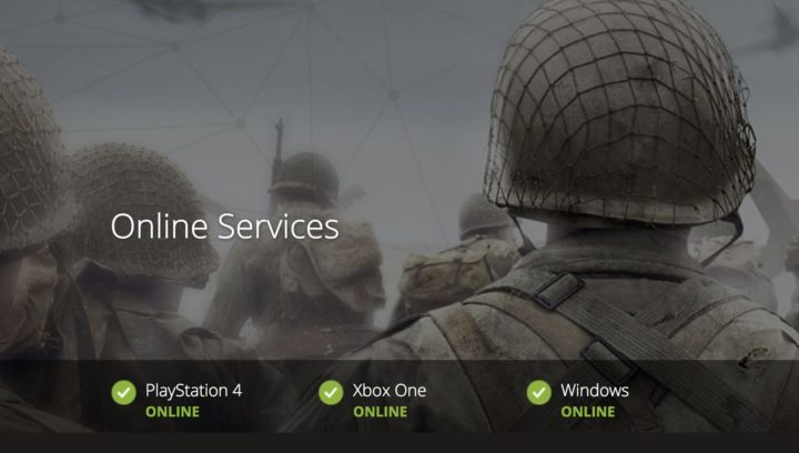 CoD:WWII:CoD関連サーバーが復旧、全機種・全タイトルが正常化か