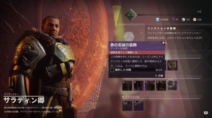 Destiny 2 防具 装飾