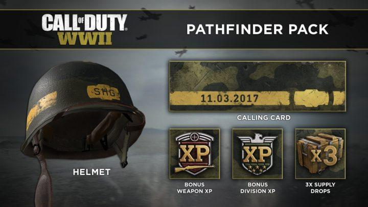 CoD:WWII:11月17日までにプレイするとサプライドロップ3つを含む「Pathfinder Pack」を入手可能