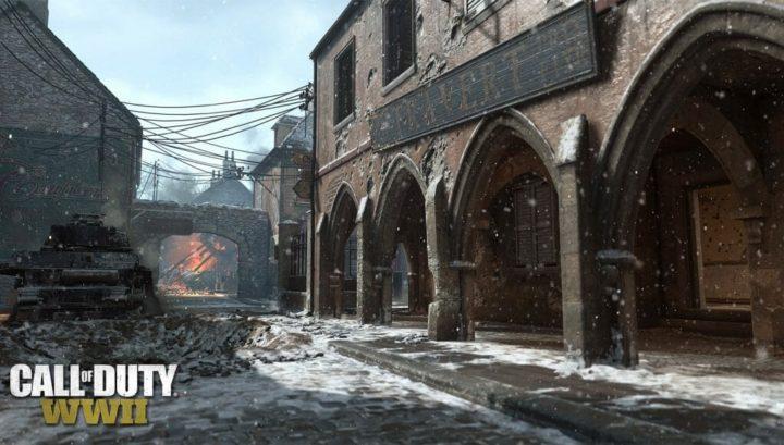 CoD:WWII: マップ「Carentan」の冬バージョン画像初公開、9日より全プレイヤーがアクセス可能