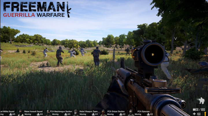 FPS+RTS+サンボックスの新感覚FPSタイトル『Freeman: Guerrilla Warfare』が早期アクセス開始(Steam)