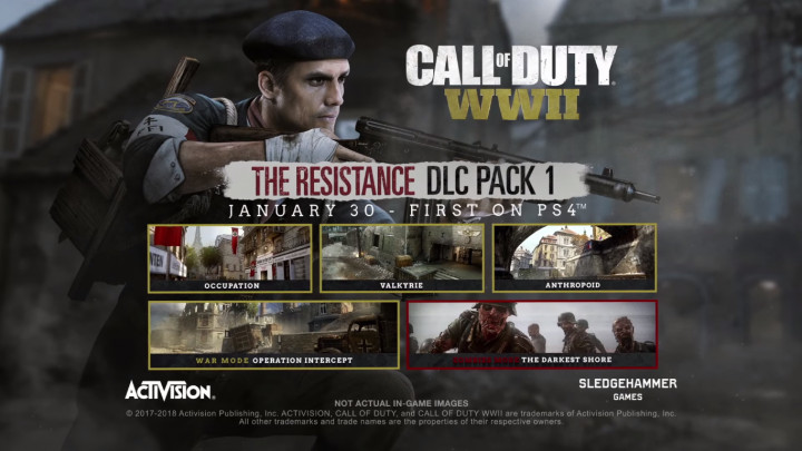 Call of Duty: WWII:第一弾DLC「The Resistance」、PCとXbox Oneで配信開始