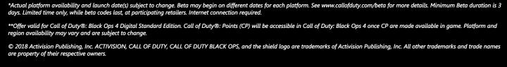 CoD:BO4:ダウンロード版の予約購入で1,100 CODポイント(海外)