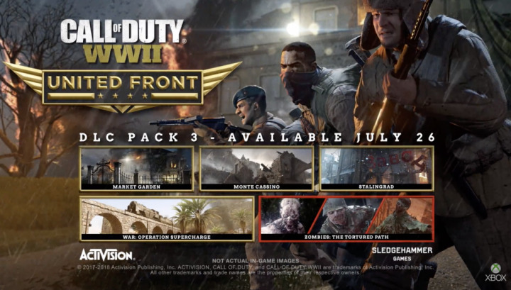 CoD:WWII:DLC第3弾「THE UNITED FRONT」のXbox OneとPC版は7月26日配信
