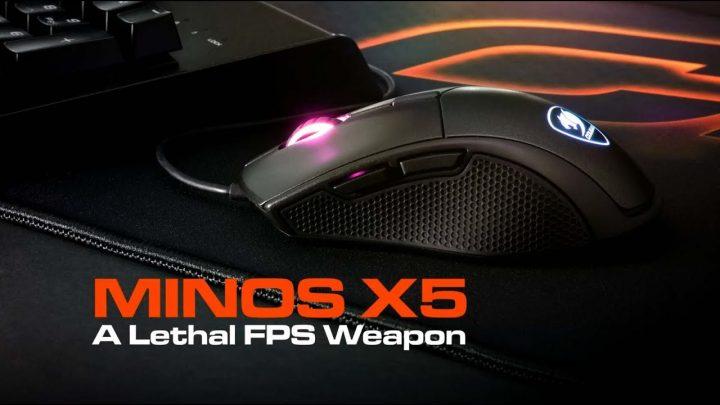 マイルストーン、リアルタイムに近いトラッキングを実現する軽量ゲーミングマウス「COUGAR Minos X5」7月20日発売