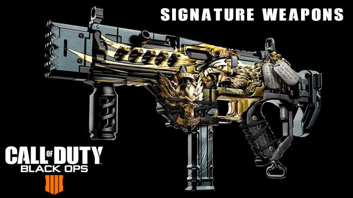 CoD:BO4:武器の新要素「シグネチャーウェポン(看板武器)」発表