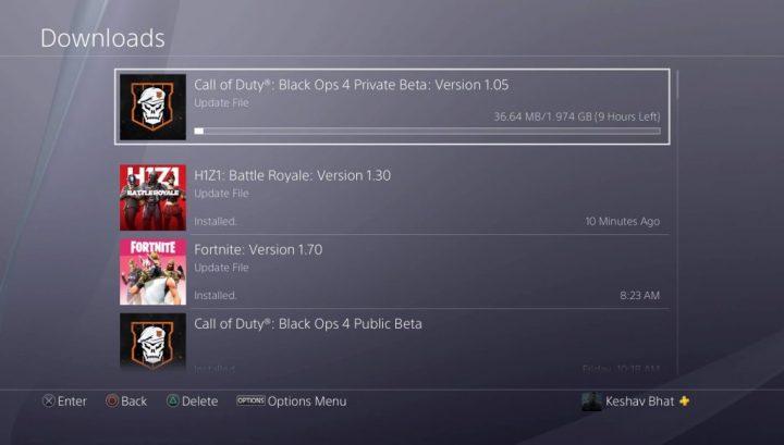 CoD:BO4: 2週目に備えて先行ベータに2GBのアップデート「1.05」が配信(PS4)
