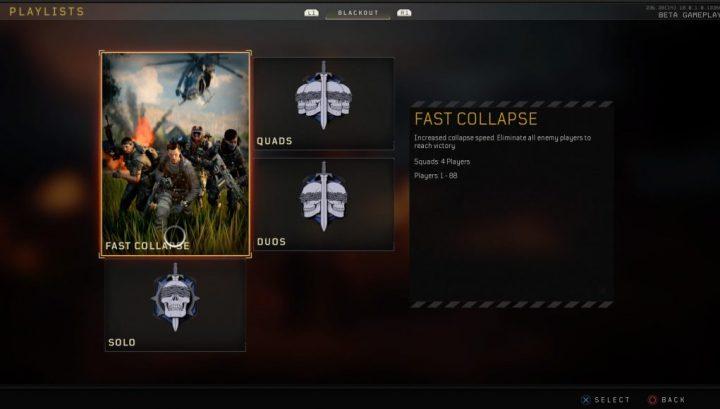 """CoD:BO4:「ブラックアウト」に新モード""""Fast Collapse""""登場、サークルが高速で迫るハイテンポモード"""
