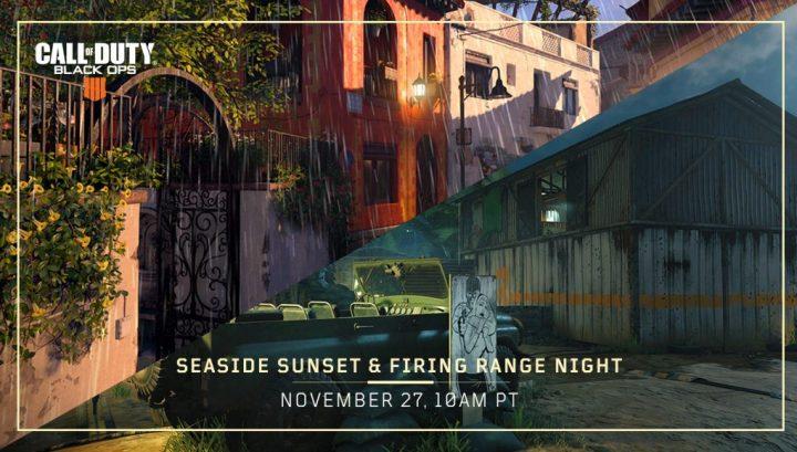 CoD:BO4:新マップ「Firing Range Night」と「Seaside Sunset」を配信(全機種)