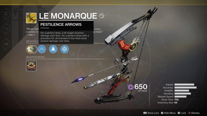 Destiny 2:Destiny: 前作の「トルン」を連想させる効果のエキゾチック弓「ル・モナーク」の入手条件をBungieが明言