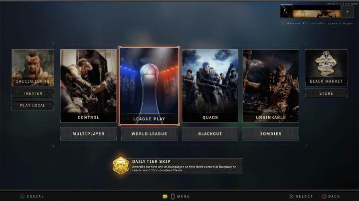 CoD:BO4:プレイヤー人口分散防止のため、マルチとゾンビのプレイリストを変更(PC)