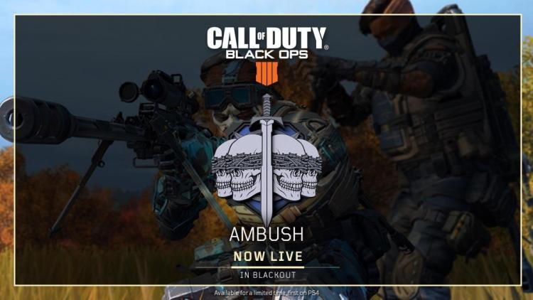 CoD:BO4:最新ゲーム設定アップデート配信、サークル崩壊ノンストップの新生「Ambush」登場や月内に「Hot Pursuit」復活予定など