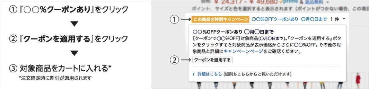「クーポン」にチェック Amazon
