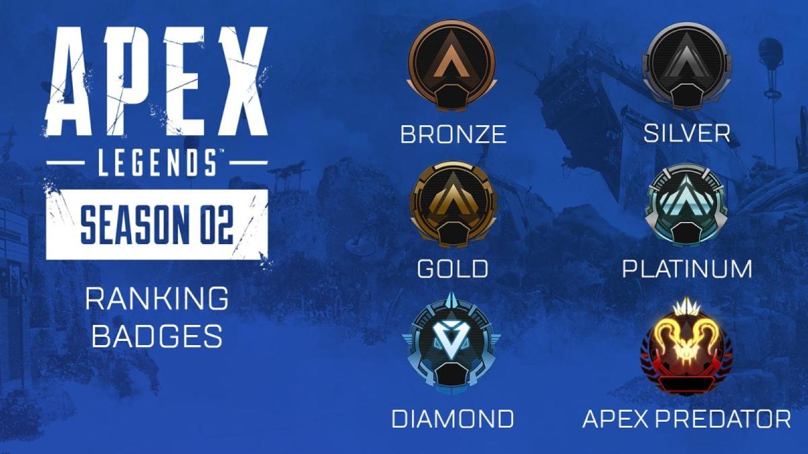 Apex Legends(エーペックスレジェンズ) ランクリーグ バッジ
