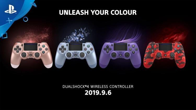 PS4:ワイヤレスコントローラー「DUALSHOCK 4」の新色4種、9月6日より数量限定発売