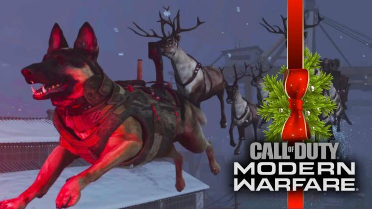 """CoD:MW:次元転移装置で未来へ!? あの軍用犬ライリーが""""赤鼻のライリー""""となり空飛ぶクリスマス・イースターエッグ"""