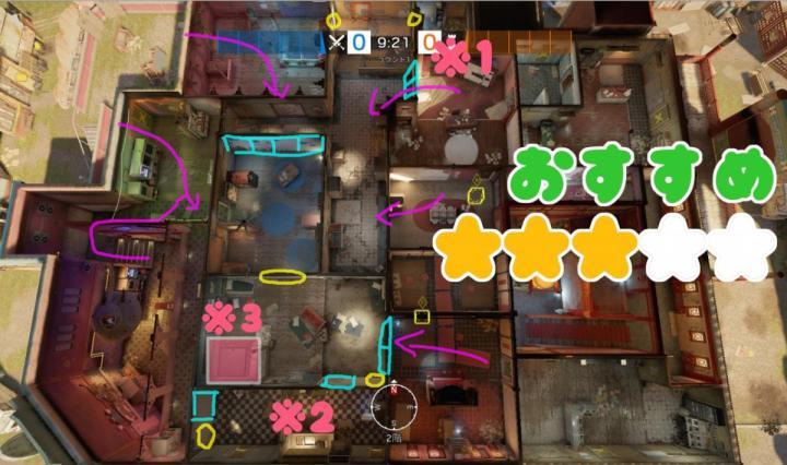 宿舎・デイケアの防衛 略図