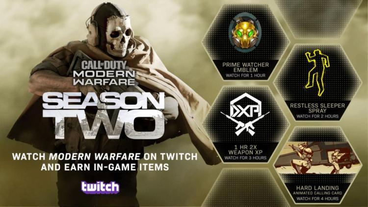 CoD:MW:Twitch視聴でゲーム内アイテム 4 種がもらえるキャンペーン