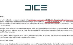 DICE:新型コロナウイルスの影響を受け全面リモートワークへ、ゲーム開発に多少の遅れを予想