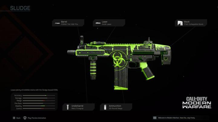 バンドル「Toxic Ooze」のレジェンド武器設計図「Sludge」