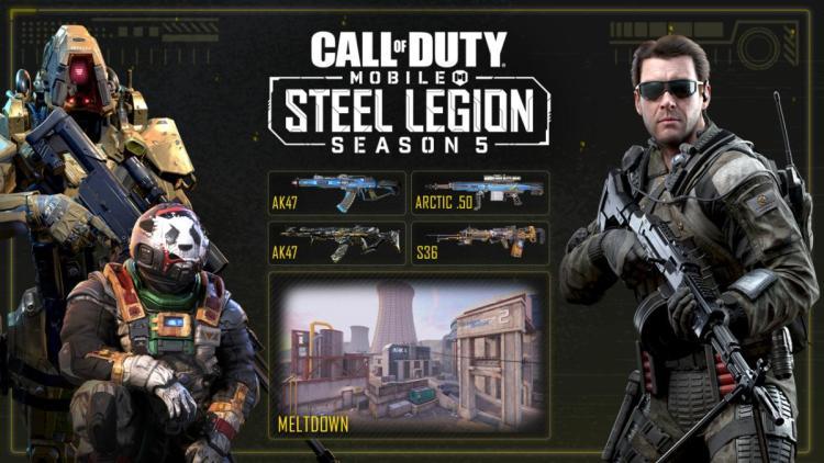 """CoD:モバイル:新シーズン「スティールレギオン」開始、新武器""""GKS""""を含む新バトルパスや期間限定2v2モードなど追加"""