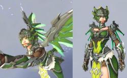 オーバーウォッチ:緑の龍の姿をしたマーシーの新スキン「ドラゴン」が先行公開