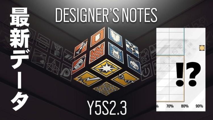 レインボーシックス シージ:「Y5S2.3デザイナーズノート」公開、新オペレーターたちの人気度と勝利貢献度が判明