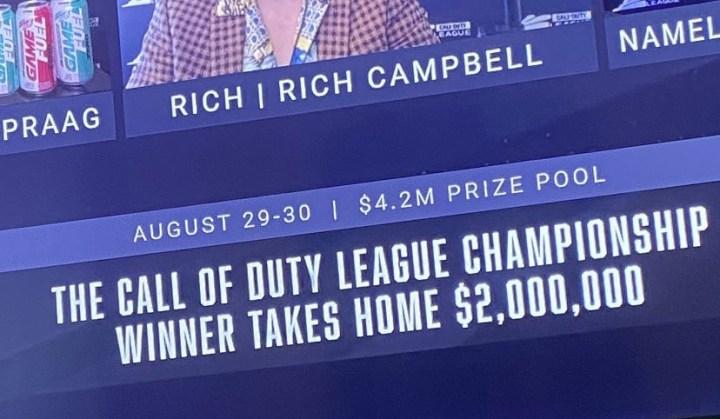 CoD:MW:1年の総決算「Call of Duty League Championship」は8月29日からで、賞金総額は約4億5千万円となることが公式リーク