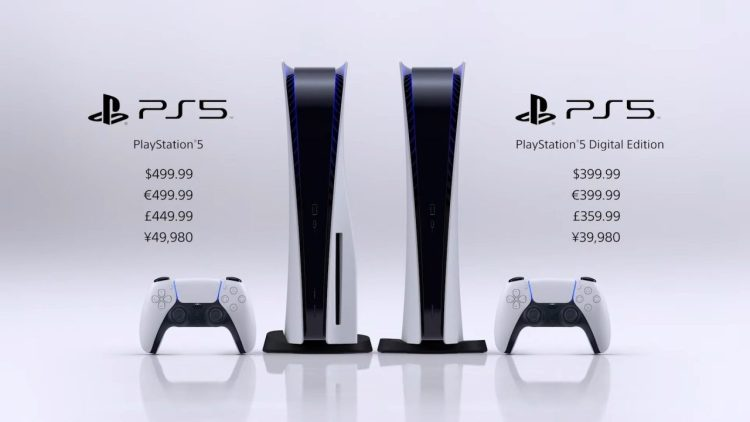 PS5:プレイステーション5の発売日は11月12日、価格はデジタル・エディションが39,980円で通常バージョンは49,980円