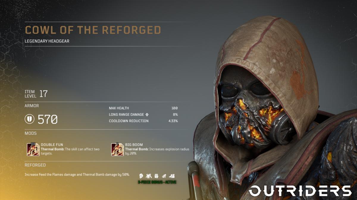 ルーターシューターアクションRPGの『Outriders』、「パイロマンサー」クラス向けレジェンダリー防具セットお披露目トレーラーが公開