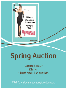 New Information about the Auction-get tickets in advance and $ave