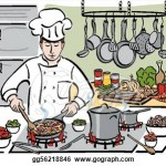 busy kitchen clipart