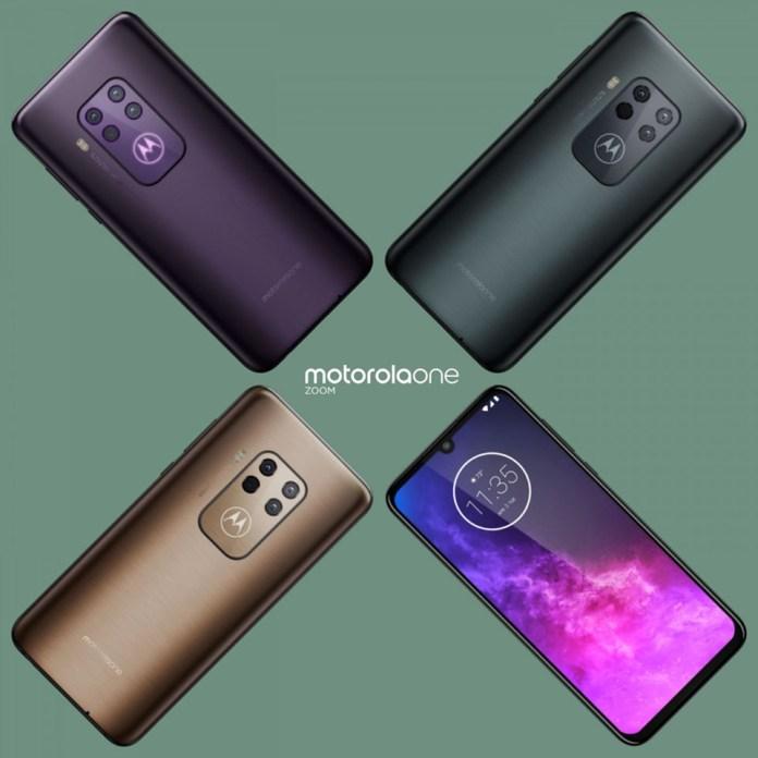 Ảnh render Motorola One Zoom