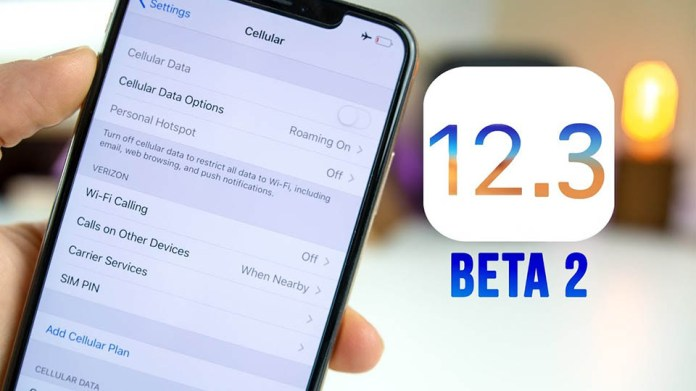 Apple phát hành iOS 12.3 beta 2