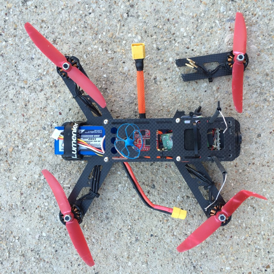 quadcopter crash