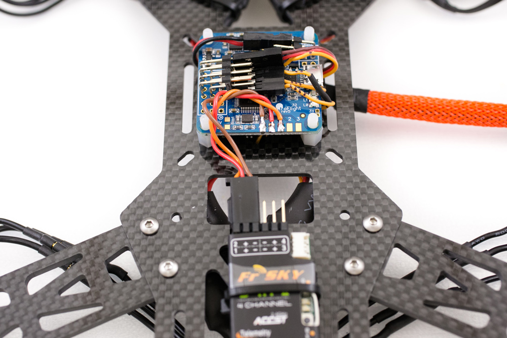 FRSKY D4R-II on a quadcopter build