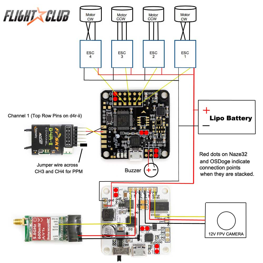 Afro Esc Wiring Diagram Wire Data Schema Rc Servo Learn How To Build A Lumenier Qav250 Quadcopter Flightclub Fpv Rh Com Futaba Receiver