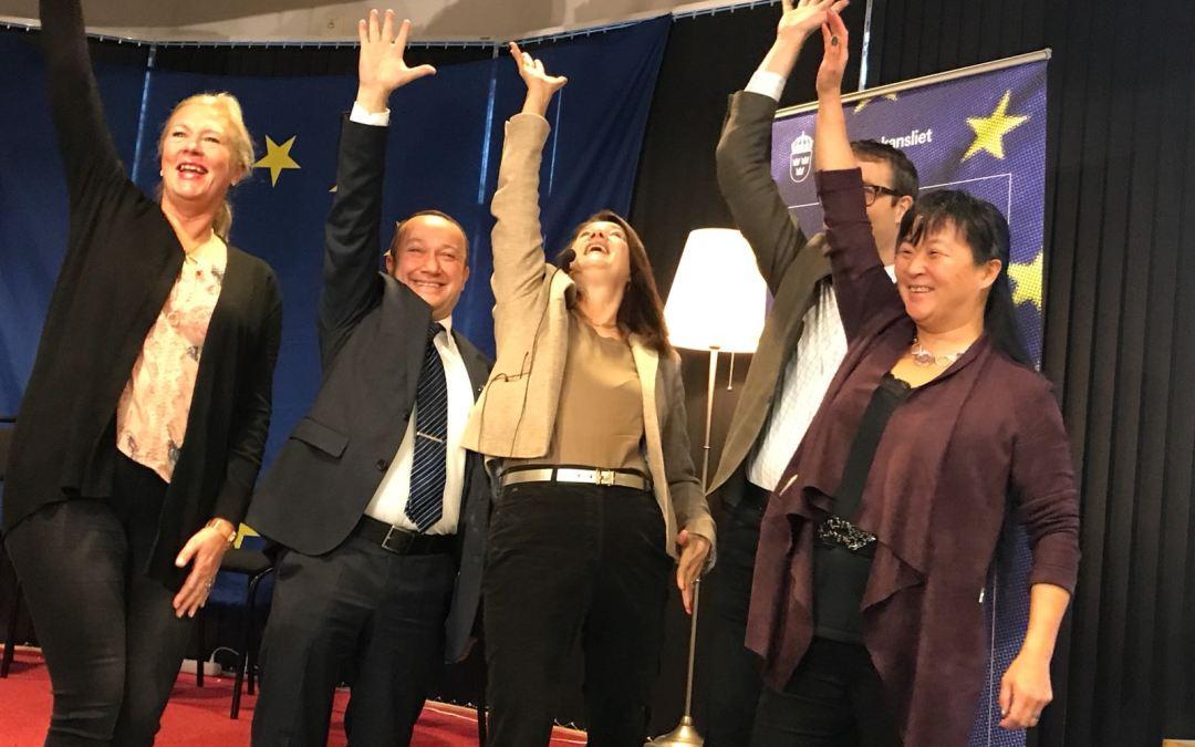 EU-handslag och invigning med EU-minister Ann Linde