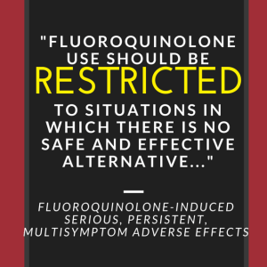 Fluoroquinolone Use Should Be Restricted