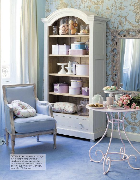 Decoration Salon Style Romantique Excellent Murs Bleu