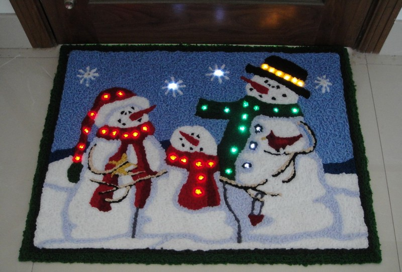 fy 002 f01 de bonhomme de neige trufting doormat tapis lampe a ampoule