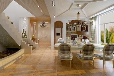Espagnol Decoration Villa De Style Jardin De Modles 3D