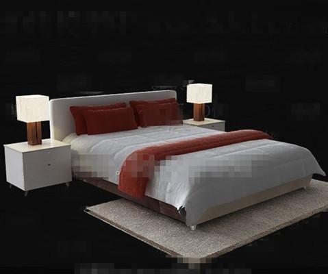 simple moderne lit double blanc