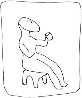 Cycladic Homme au gobelet cycladique:cup bearer dessin