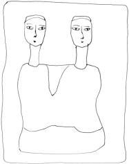 Egyptian Antiquity twins:les jumelles Egypte Antique